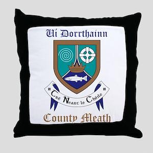 Ui Dorrthainn - County Meath Throw Pillow