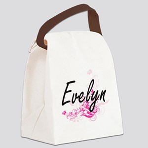 Evelyn Artistic Name Design with Canvas Lunch Bag