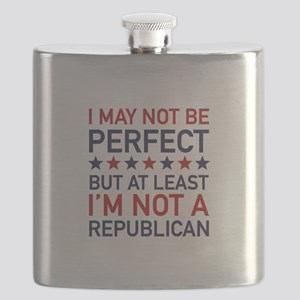 At Least I'm Not A Republican Flask