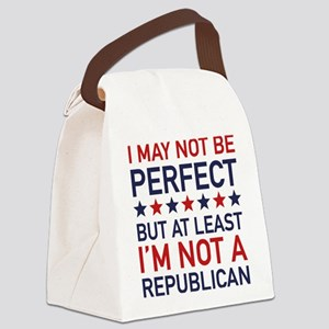 At Least I'm Not A Republican Canvas Lunch Bag