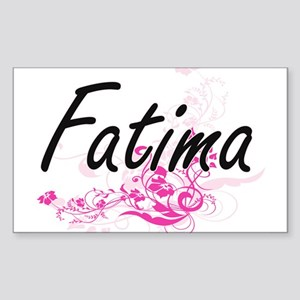 Fatima Artistic Name Design with Flowers Sticker