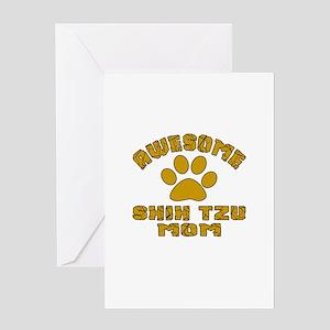 Awesome Shih Tzu Mom Dog Designs Greeting Card