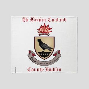 Ui Briuin Cualand - County Dublin Throw Blanket