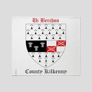 Ui Berchon - County Kilkenny Throw Blanket