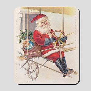Vintage Santa Airship 1915 Mousepad