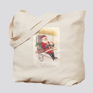 Vintage Santa Airship 1915 Tote Bag