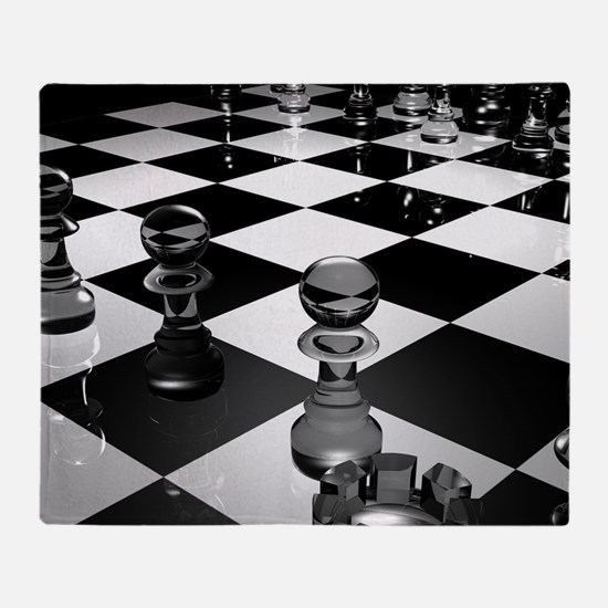 Chess Board Throw Blanket