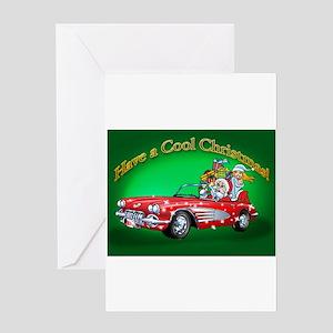 Vintage Car Santa Greeting Cards