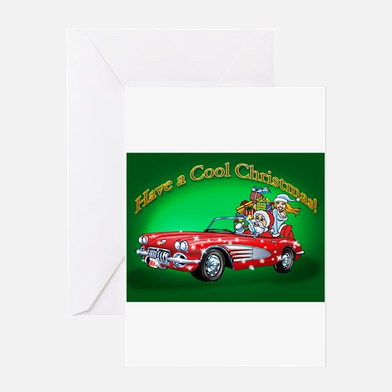 Vintage Car Santa Greeting Cards