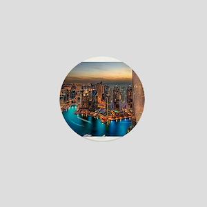 Dubai Skyline Mini Button