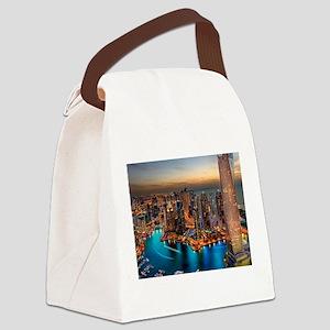 Dubai Skyline Canvas Lunch Bag