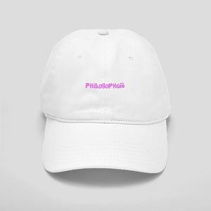 Philosopher Pink Flower Design Cap