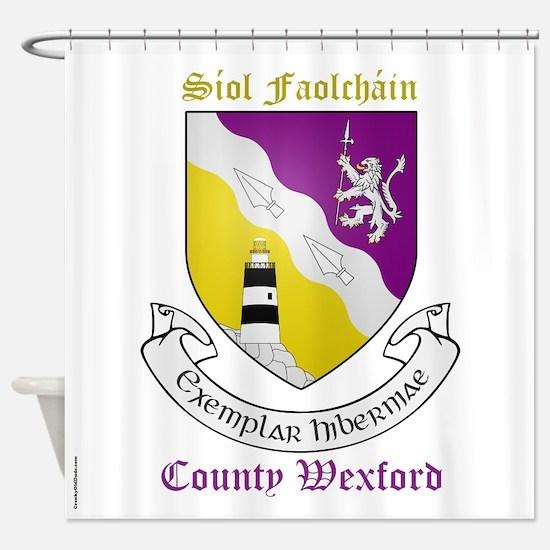 Siol Faolchain - County Wexford Shower Curtain
