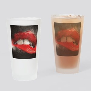 Sexy Lip Biting Drinking Glass