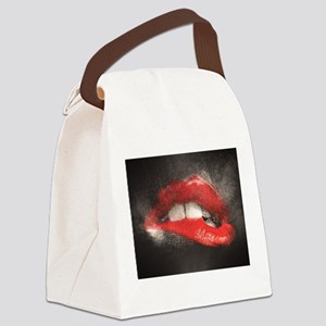 Sexy Lip Biting Canvas Lunch Bag