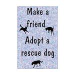 Adopt A Rescue Dog Mini Poster Print