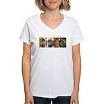 Primitive Inspired Graphics Women's V-Neck T-Shirt
