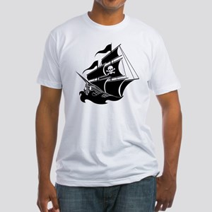 Pirate Ship Fitted T-Shirt