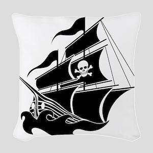 Pirate Ship Woven Throw Pillow