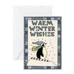 Warm Penguin Christmas Card Greeting Cards