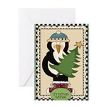 Christmas Wishes Penguin Greeting Cards