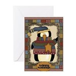 Happy Penguin Card Greeting Cards