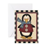 Sweater Penguin Greeting Cards