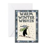 Warm Penguin Christmas Card (pk Of Greeting Cards