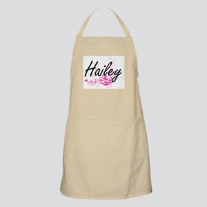 Hailey Artistic Name Design with Flowers Apron