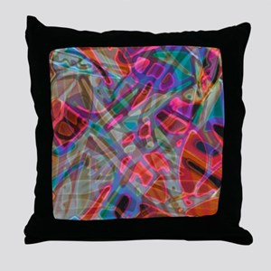 Colorful Stained Glass G1 Throw Pillow