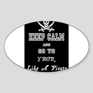 Ybor Pirate - Keep Calm Sticker