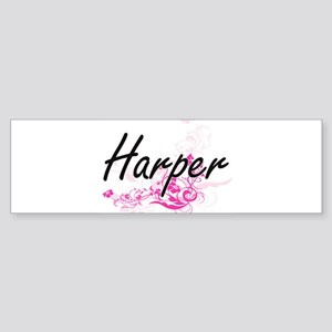 Harper Artistic Name Design with Fl Bumper Sticker