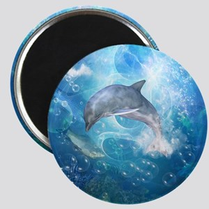 Wonderful dolphin Magnets