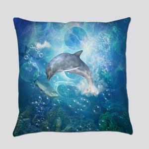 Wonderful dolphin Everyday Pillow