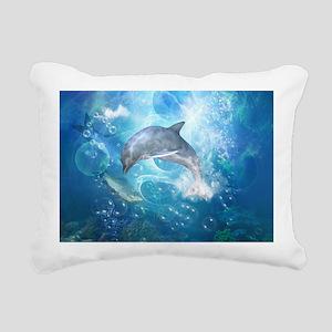 Wonderful dolphin Rectangular Canvas Pillow