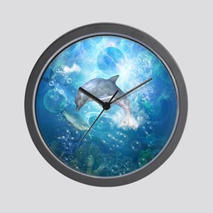 Wonderful dolphin Wall Clock