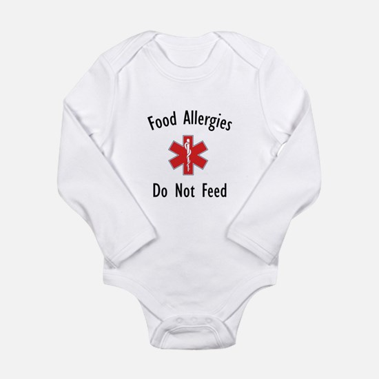 Unique Allergy awareness Long Sleeve Infant Bodysuit