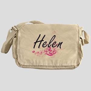 Helen Artistic Name Design with Flow Messenger Bag