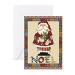 noel santa christmas Greeting Cards (Pk of 20)