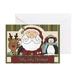 Holly Jolly Christmas Greeting Cards (pk Of 10)