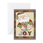 Santa Joy Christmas Greeting Cards (Pk of 10)