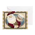 Mr. And Mrs. Santa Claus Greeting Cards (pk Of 10)
