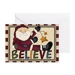 Believe Santa Christmas Greeting Cards (pk Of 10)