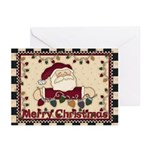 Santa Lights Merry Chris Greeting Cards (pk Of 10)