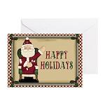 Holidays Santa Christmas Greeting Cards (pk Of 10)