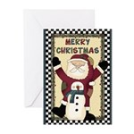 Santa Merry Christmas Greeting Cards (Pk of 10)
