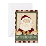 Happy Holidays Santa Chr Greeting Cards (Pk of 10)
