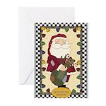 Christmas Wishes Santa Greeting Cards (Pk of 10)