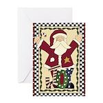Joy Santa Christmas Greeting Card