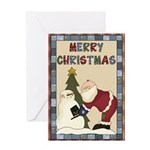 Santa Merry Christmas Greeting Card